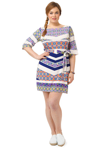 Nouveau Sheath Dress In Imperial Mosaic