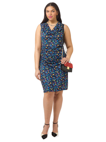 Twilight Floral Ruched Dress