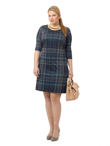 Chic Plaid Shift Dress