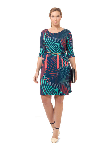 Peacock Abstract Shift Dress