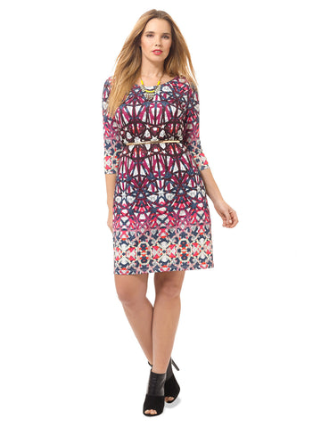 Kaleidoscope Printed Shift Dress