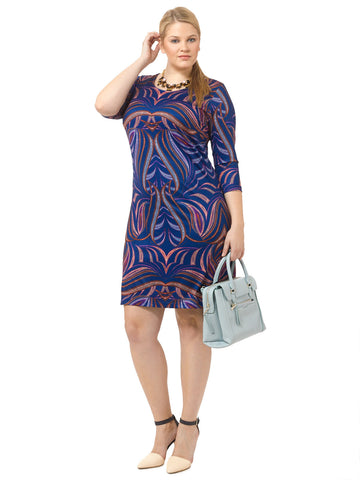 Luxe Printed Shift Dress