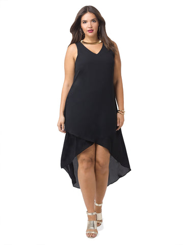 Cross Over V-Neck Dress