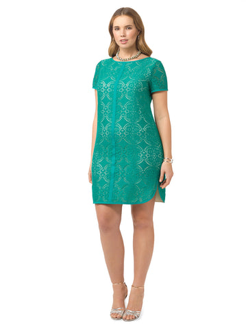 Medallion Lace Shift Dress