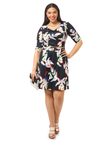 Radiant Juniper Fit & Flare Dress