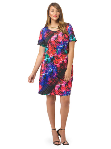 Vibrant Floral Shift Dress