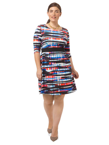 Streaked Plaid Chelsea Dress
