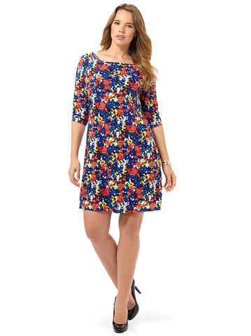 Shift Dress In Pop Floral