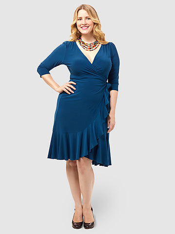 Whimsy Wrap Dress Teal