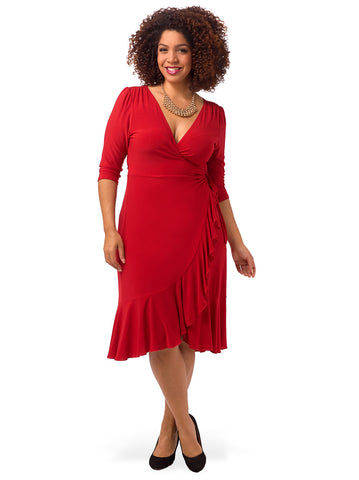 Whimsy Wrap Dress Red