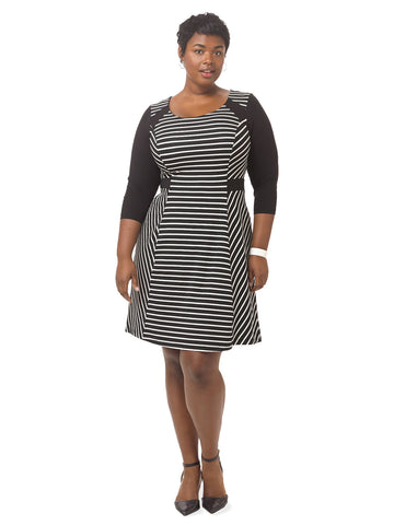 Virginia Dress In Stripe