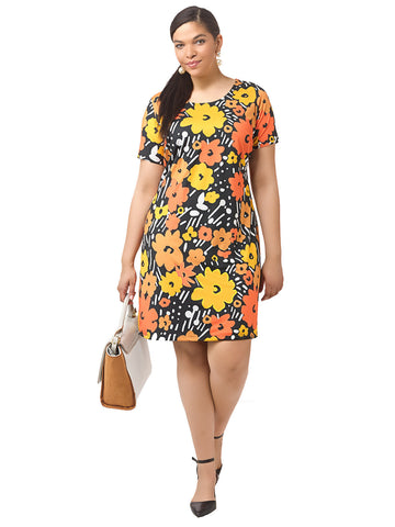 Chic Retro Floral Shift Dress