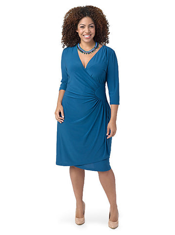 Ciara Cinch Dress Teal