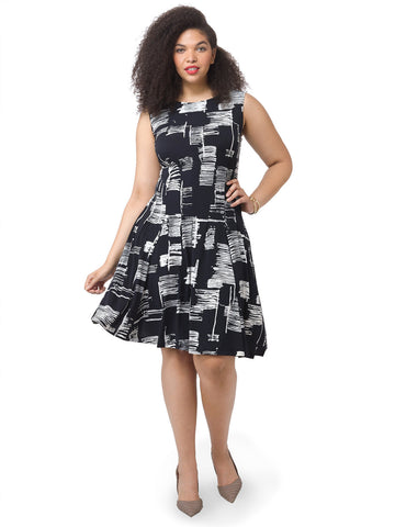Black & White Graffiti Dress