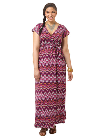 Alison Maxi Dress In Orchid Tide