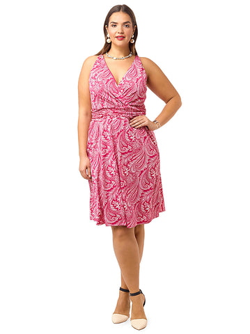 Heidi Halter Dress In Fuchsia Cachemire