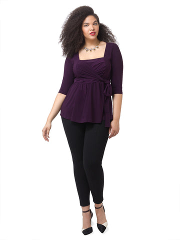 Janelle Top In Damson