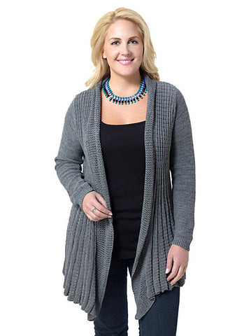 Grey Edge to Edge Cardigan