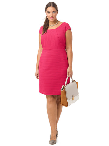 Textured Dress In Fuchsia