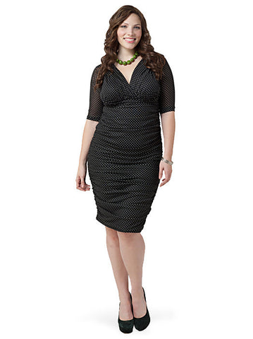 Betsey Ruched Dress Polka Dot