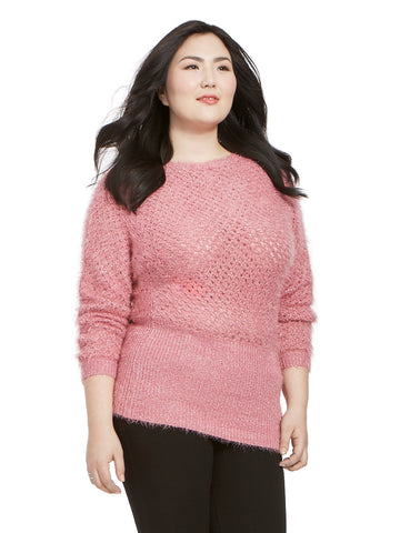Pretty Lurex Sweater In Wild Orchid