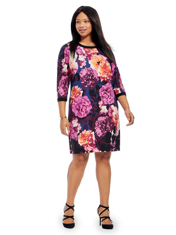 Shift Dress In Floral Blossom