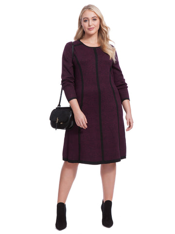 Claret Fit & Flare Dress Sweater Dress