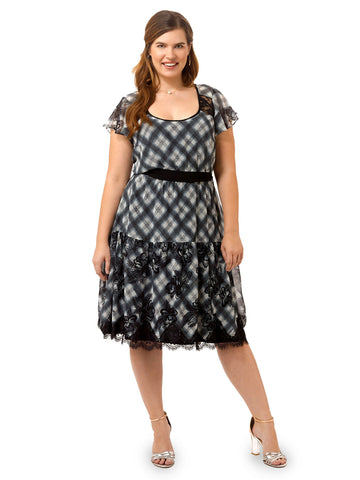 Lacey Check Dress