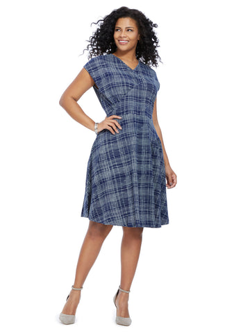 Nina Dress In Winter Plaid Print