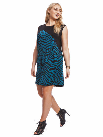 Chevron Colorblock Dress