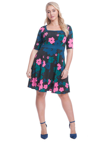 Mod Floral Fit & Flare Dress