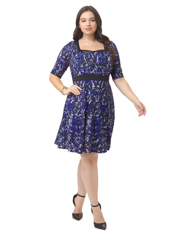 Twilight Printed Fit & Flare Dress
