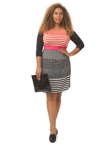 Striped Colorblock Chelsea Dress