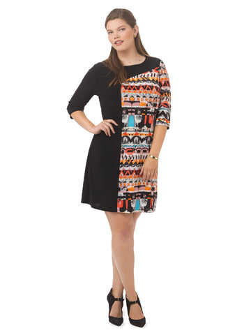 Marcel Dress In Abstract Print