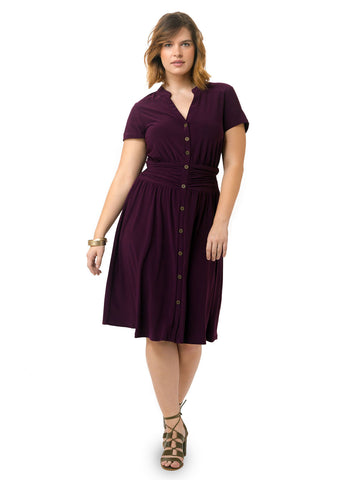 Chelsea Shirtdress In Plum