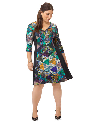 Paisley Remix A-Line Dress