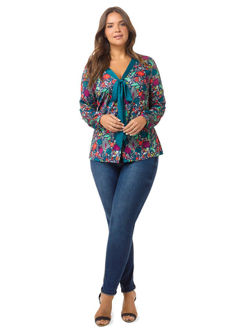 Pop Floral Printed Blouse