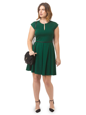 Evergreen Pleated Dress