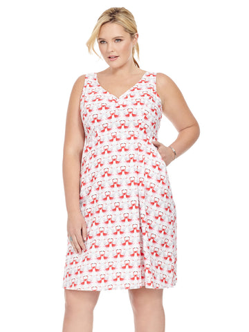 Zoe Dress In Flamingo Print