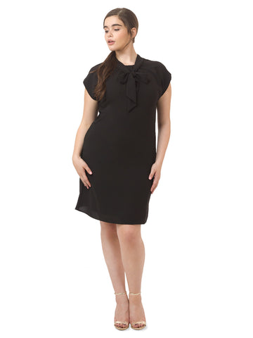 Black Bow Tie Shift Dress