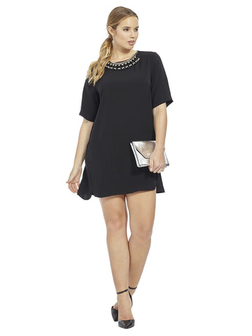 Black Dress With Statement Neckline