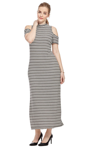 Maxi Dress With Cut Out Shoulder