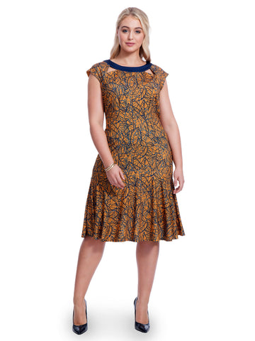 Stencil Printed Gemma Dress