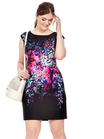 Floral Reflection Sheath Dress