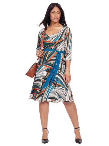 Taryn Dress In Color Waves