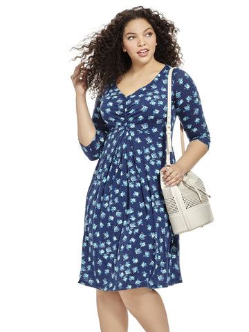 Spring Forward Dress In Blue Bouquet