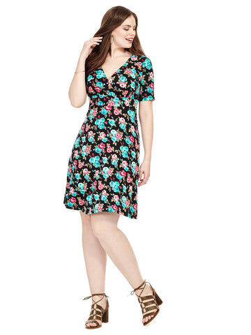 Work The Angle Dress In Floral Bouquet