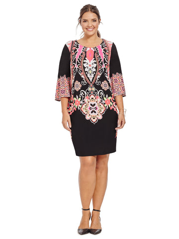 Dress In Mirrored Paisley