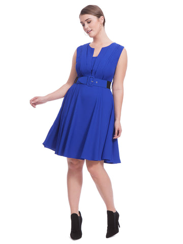 Vintage Veronica Dress In Pool Blue