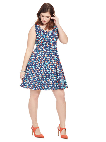 Brigitte Dress In Point Of Sail